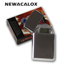 NEWACALOX 200g x 0.01g Mini Lighter Style Digital Scales For Gold And Diamond Scale Jewelry 0.01 Balance Gram Electronic Scales(China)