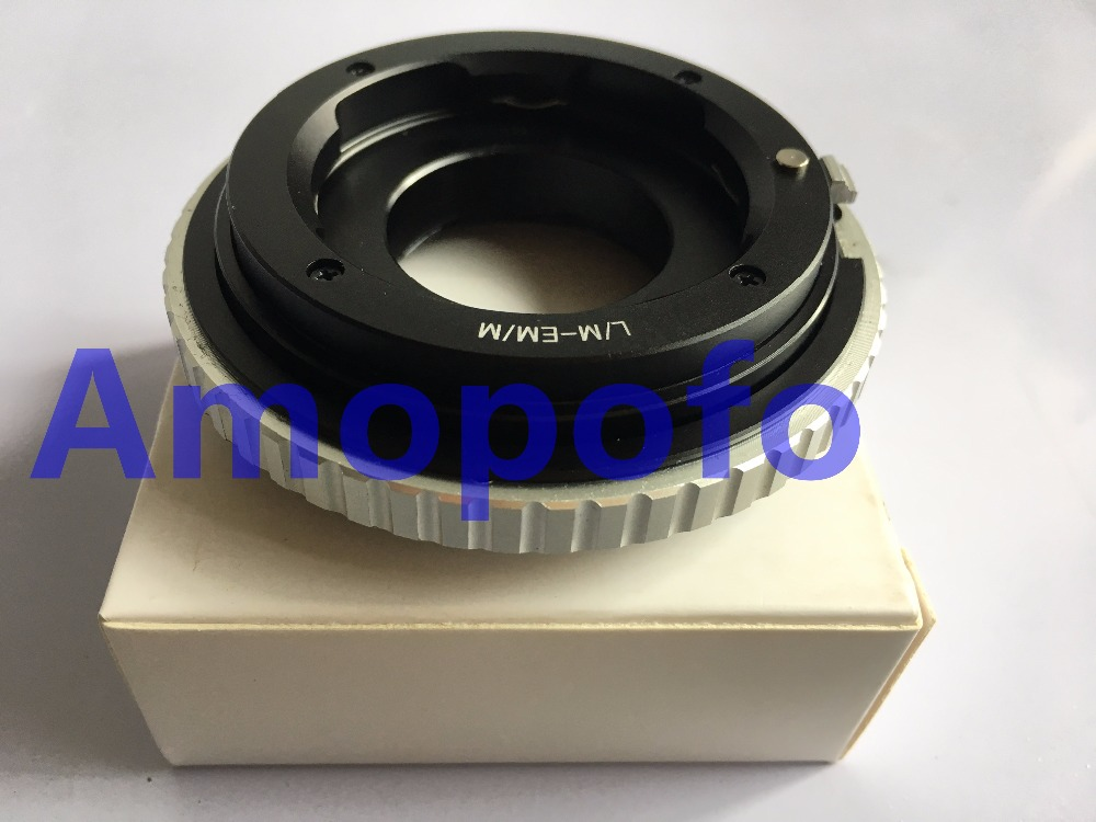 Amopofo LM-EOSM / M Adapter for Leica M LM Lens to Canon EF M EF-M - كاميرا وصور