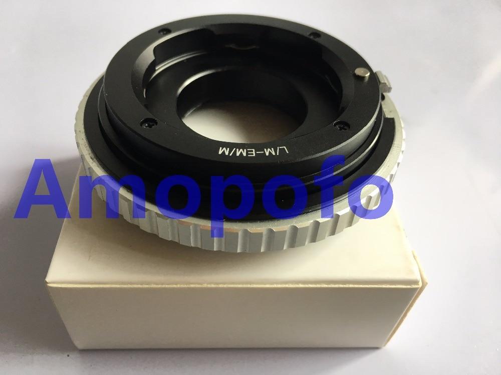 Amopofo LM-EOSM / M-adapter för Leica M LM-objektiv till för Canon - Kamera och foto