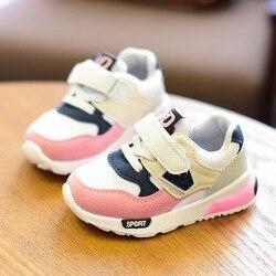 2019 dziecięce buty dla chłopców dziewczęce codzienne tenisówki dziecięce Baby Girl siatka powietrzna oddychająca miękka do biegania obuwie sportowe różowe w Trampki od Matka i dzieci na