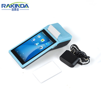 Rakinda S4-Android 6.0 Mobile POS Terminal with 58mm Thermal Printer and 1D 2D Barcode Reading Function