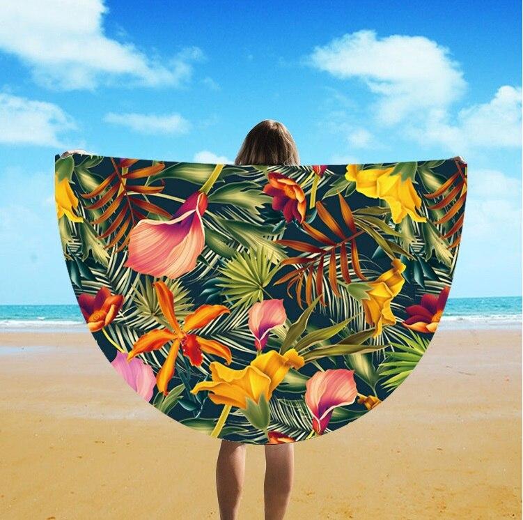 The Latest Fashion Design Round Tassel Beach Towel Beach Towel Digital Printing Beach Towel St06-131