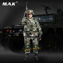 цена на Full set Chinese Soldier Army special forces Wolf Warriors Zhan lang Horri bull Action Figure Collection Doll Toys Gift