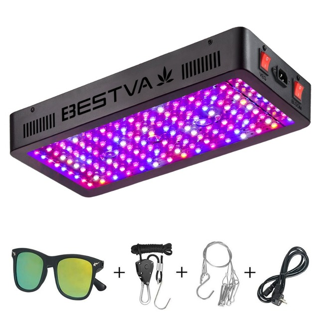 BestVA led grow light full spectrum 1500W dual Switches Veg Bloom modes for Indoor plants greenhouse grow tent