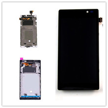 цена на white black Touch Screen Digitizer Sensor Glass + LCD Display Panel Assembly With Frame for Sony Xperia C S39h C2304 C2305