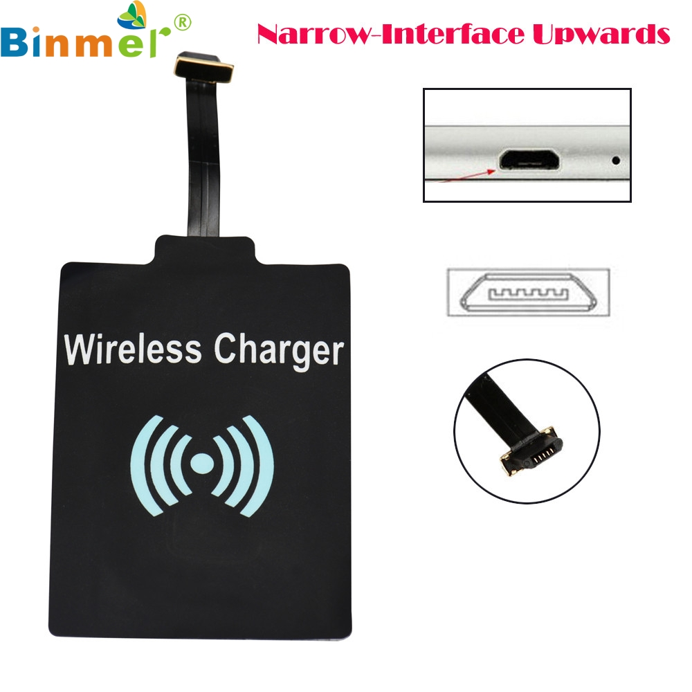 Mosunx Universal QI Wireless Charging Receiver Charger Module For Micro USB Cell Phone LJJ0112
