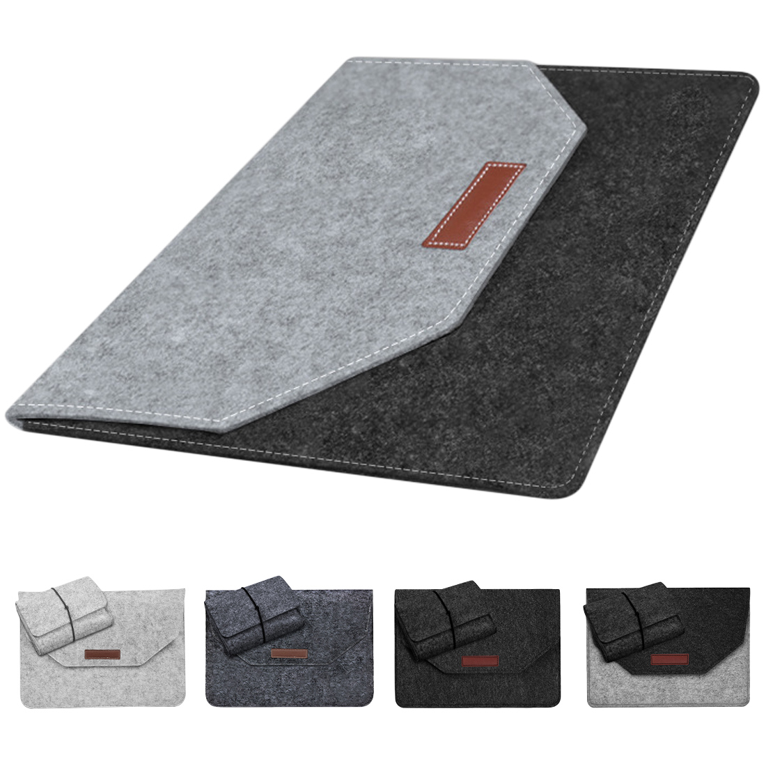 New Fashion Soft Bussiness Wood Felt Sleeve Bag Case For Apple Macbook Air Pro Retina 11 13 15 Laptop For Mac Book 13.3 Inch