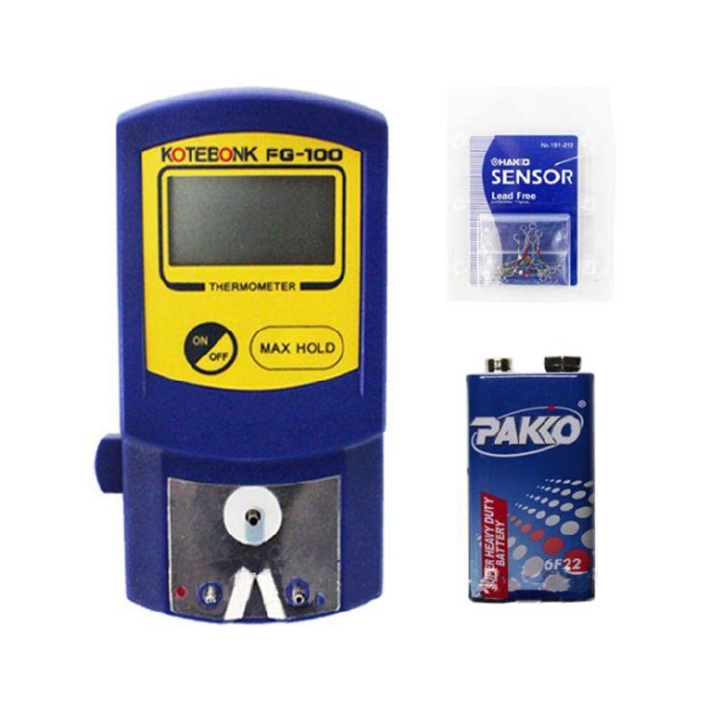 Наконечник паяльника тестер температуры FG-100 Термометр используется для сварки железа 6,8x14x3,8 см