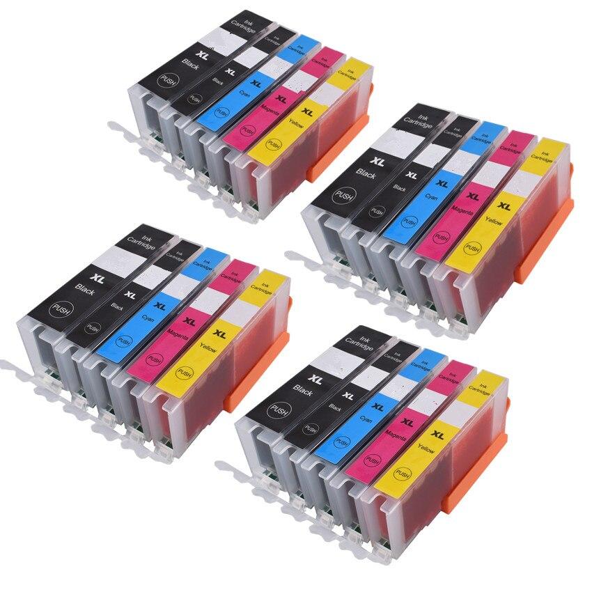 cartridges 471 canon compatible - For canon 470 471 PGI-470 CLI-471 compatible  ink cartridge For canon PIXMA MG6840 MG5740 MG 6840 MG 5740 TS5040 TS6040 printer