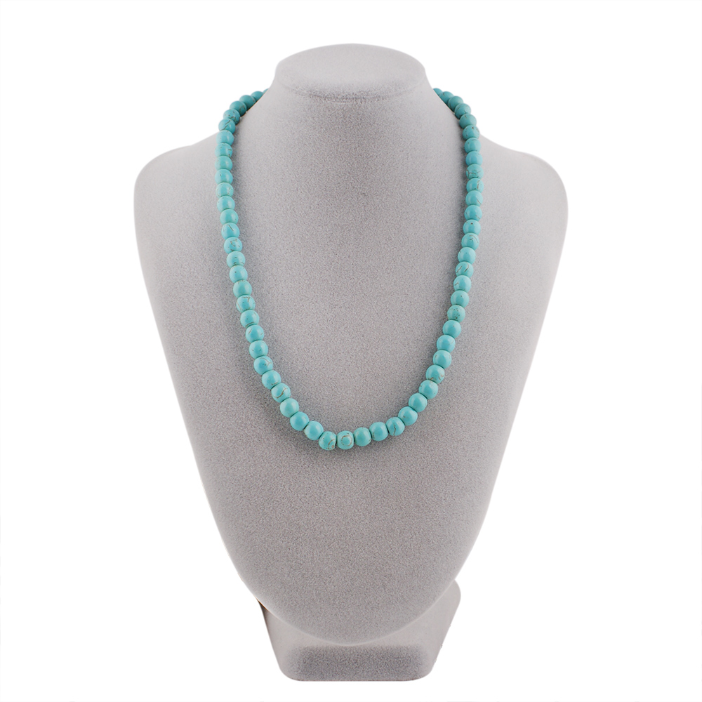 Partnerbeads Blue Stone Handmade Nacklace 45cm New Style Women Blue Beads Necklace for Women Jewelry TA3007