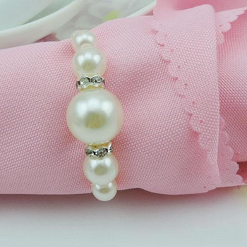 New arrival pearl napkin rings holders for weddings party and hotel table decoration 50 pcs / lot