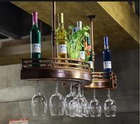 Барный стеллаж для вина стойка для стаканов подвесная полка для вина украшение креативная высокая бутылка вина чашка держатель вверх дном