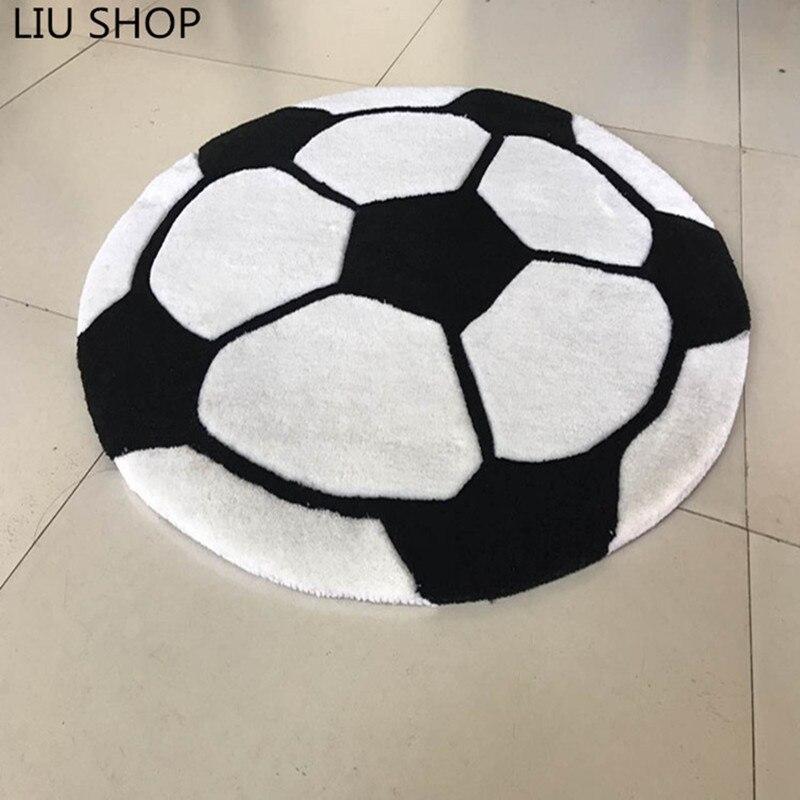 LIU acrylique bande dessinée football tapis garçon enfants salon chambre tapis coussin épais rond ordinateur tapis enfants jouer tapete