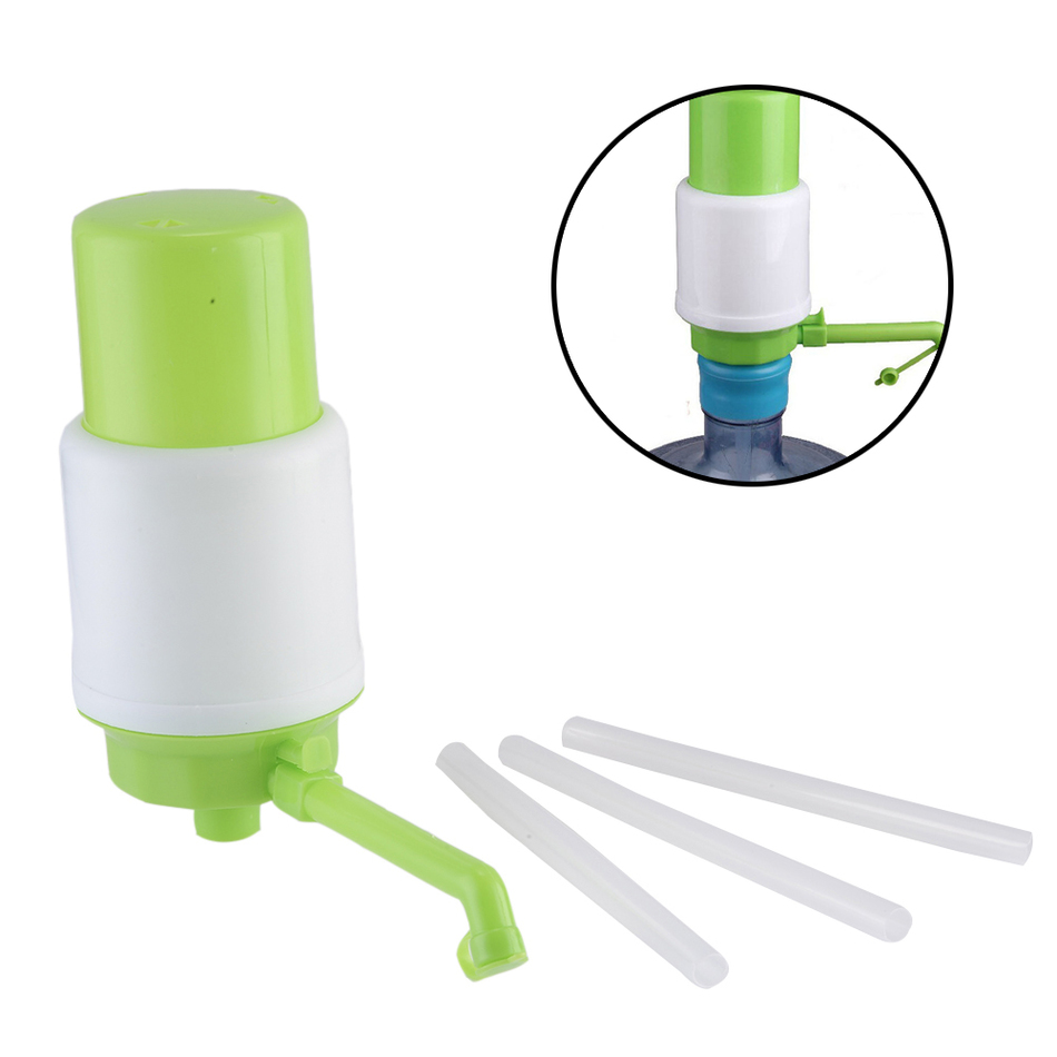Gallon Bottled Drinking Water Hand Press Vacuum Action Manual Pump Dispenser With Hose Extensions Removable Tube Innovative