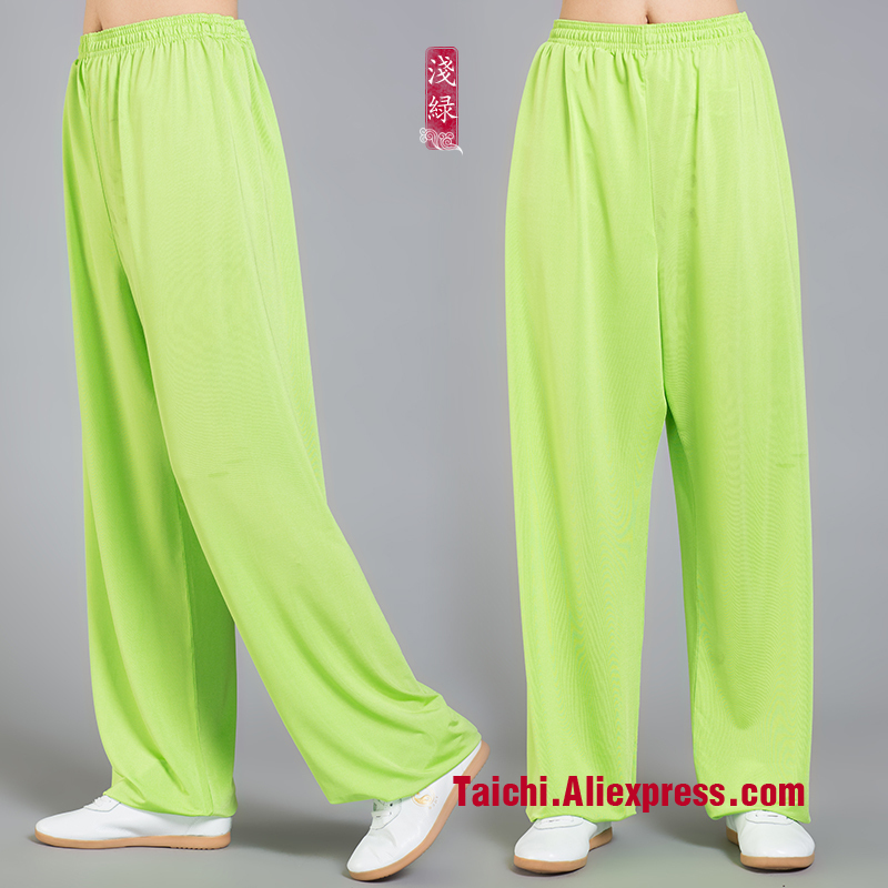 Bright Colors Icesilk Tai Chi Pants  Martial Art Yoga  Pants Wu Shu  Pants Yoga Pants