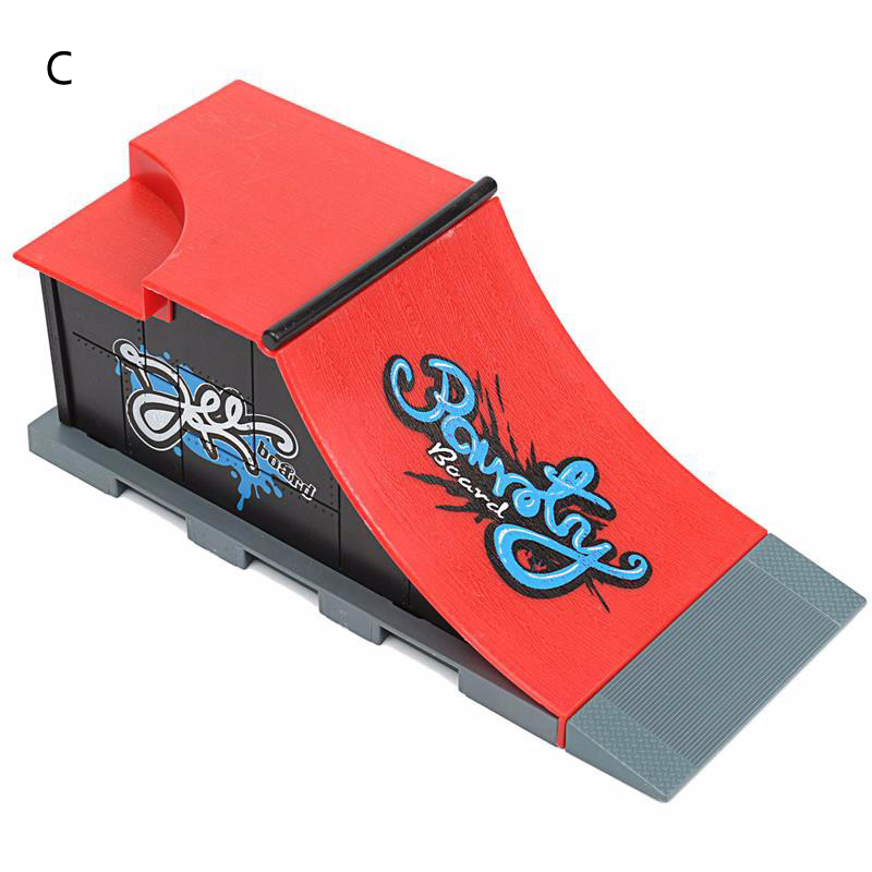 1 Piece Hot Sale 6 Styles Skate Park With Fingerboard Ramp Parts For Fingerboard Finger Skateboards Tech Deck Toys For Kids