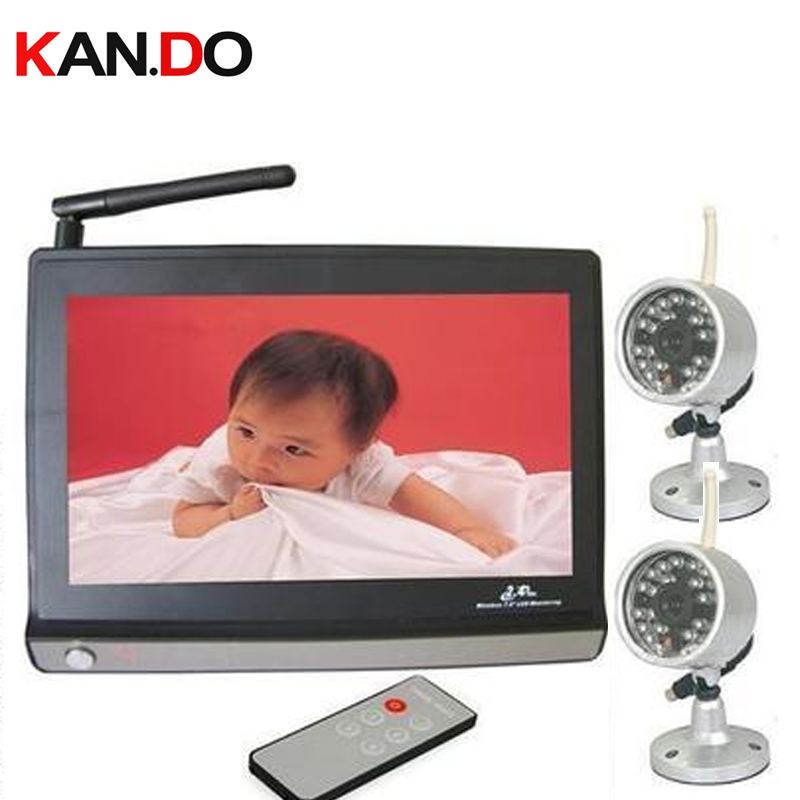 2.4G receiver,with 2 cameras7 inch LCD Monitor 2.4G Wireless Receiver,CCTV Camera CCTV receiver,baby monitor,4 channels support receiver