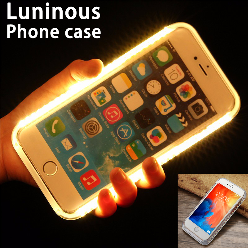 3D Touch Luminous Case for Iphone 6 6S 7 8 X Pattern Phone Case Back Cover for Iphone 6 6S Plus i7 Plus 5S 6s Case Full Cover