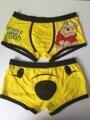 2017 nuevo 100% historieta del algodón del boxeador/hombres underwear oso encantador (amarillo) Vinnie shorts hombre ropa interior de los boxeadores de caracteres
