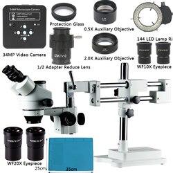 34MP Full HD 1080P 60FPS HDMI przemysł elektronowy cyfrowy mikroskop z aparatem naprawa telefonu komórkowego 3.5X-90X mikroskop stereoskopowy