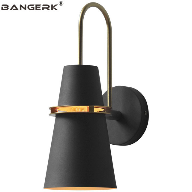 Nordic Loft Style LED Wall Light Fixtures Creative Horn Sconces Iron Modern Bedside Wall Lamp Home Decor Indoor Lighting