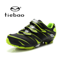 Tiebao Road Racing Bike Shoes Ultralight Mens Breathable Athletic SPD Self-locking Professional MTB Cycling Bicycle Shoes 4color