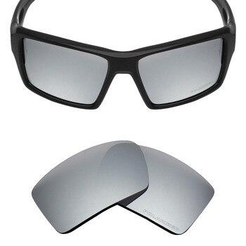 0196c84e00 Mryok + polarizado resistir agua reemplazo de lentes Oakley parche 2 gafas  de sol de titanio de plata