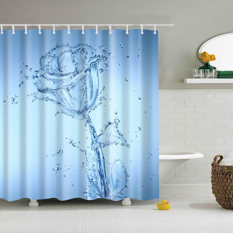 Naturliche Muster Ananas Blume Blatt Polyester Dusche Vorhange