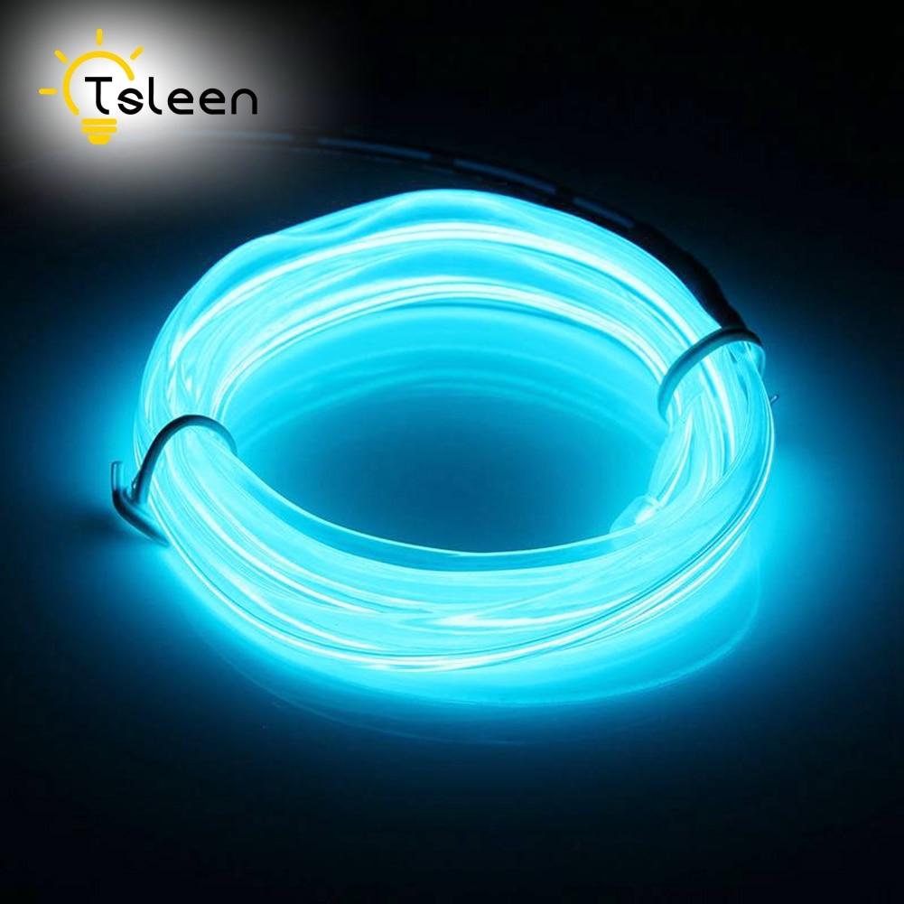 TSLEEN 2M 3M 5M Elastyczny przewód EL LED Neon Tube Glow Strobing - Oświetlenie LED - Zdjęcie 4