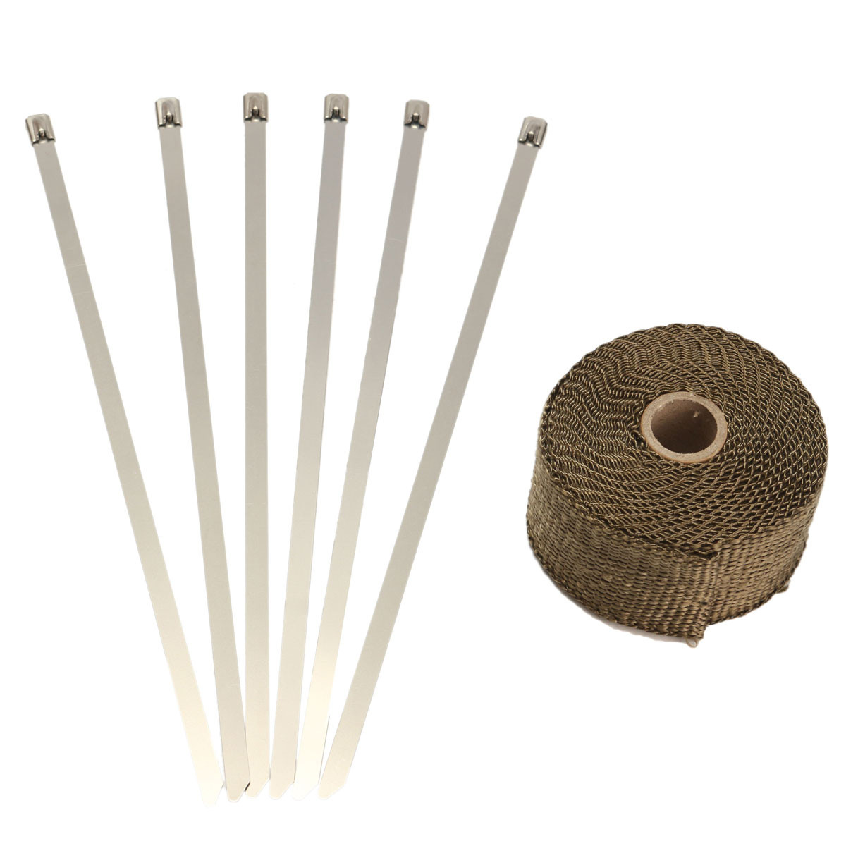 508cm-x-159-mm-x-5m-titanium-exhaust-header-heat-wrap-downpipe-insulation-bandage-tape-roll-with-stainless-ties-kit