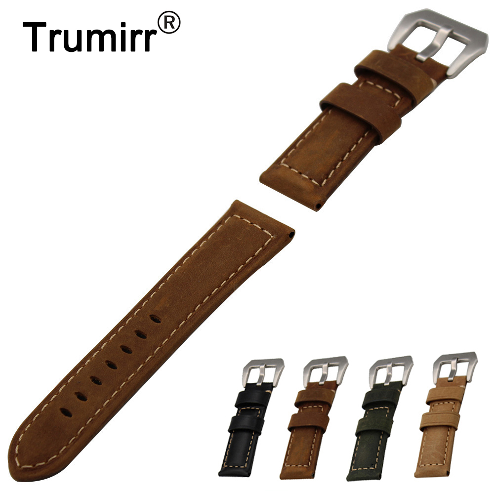 22mm 24mm Calf Genuine Leather Watch Band for Tissot 1853 T035 Tang Buckle Watchband Strap Wrist Bracelet Black Brown Green istrap 22mm handmade genuine calf leather padded replacement watch band for men black 22