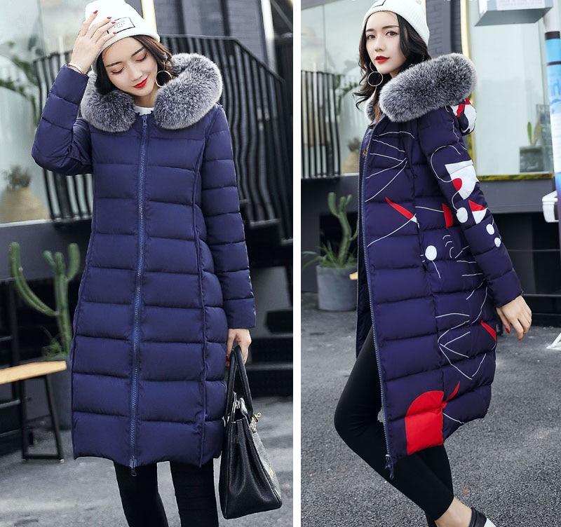 19 winter women hooded coat fur collar thicken warm long jacket female plus size 3XL outerwear parka ladies chaqueta feminino 10
