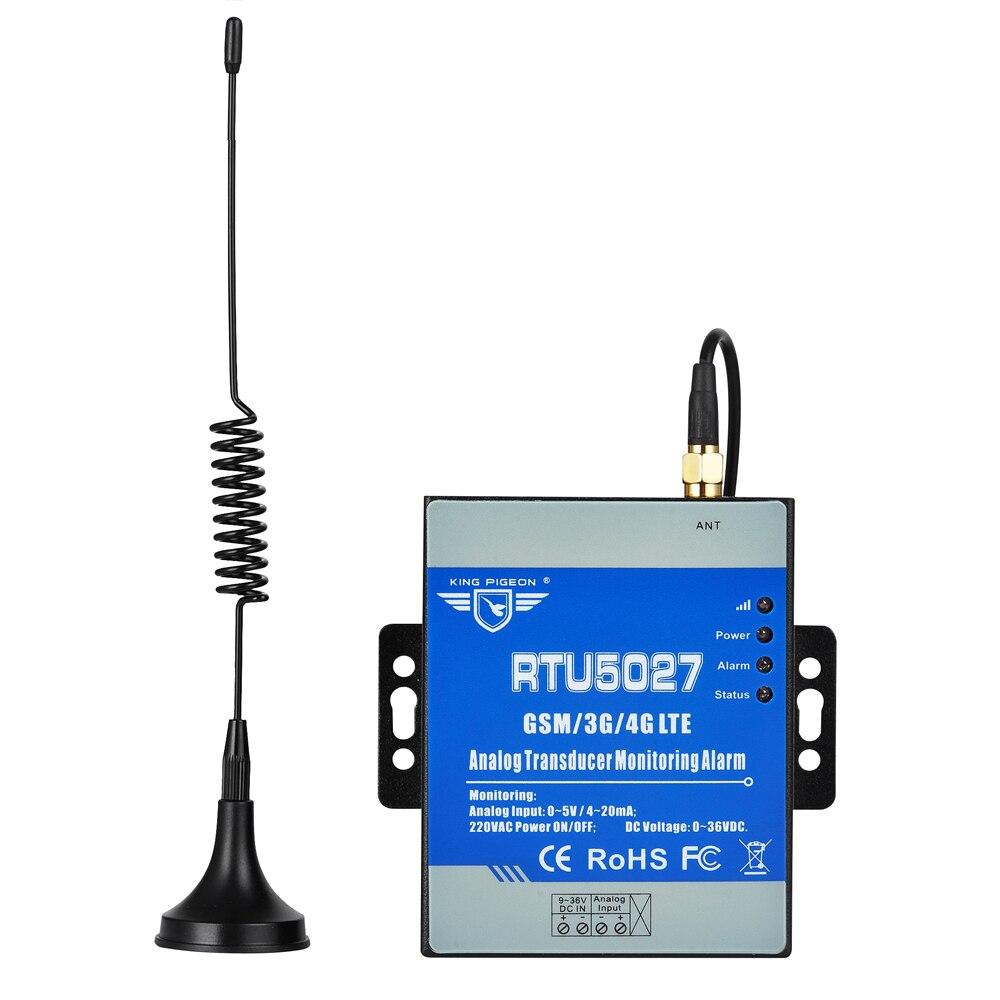 Аналоговый преобразователь сигнала тревоги контроля для уровня жидкости PM2.5 ветер Скорость Напряжение мониторинга 3g 4G Шлюз Modbus RTU5027A