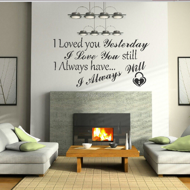 Hot I Love You Forever Quote Wall Art Sticker Decal DIY Home ...