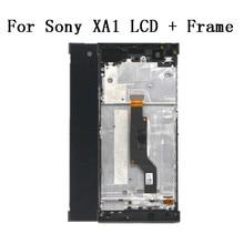 شاشة لمس 5.0 بوصة لهاتف SONY Xperia XA1 XA 1 G3116 G3121 G3123 G3125 G3112 إطار مجموعة المحول الرقمي لشاشة LCD مع أداة مجانية
