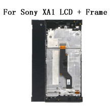 Touch Screen da 5.0 pollici Per SONY Xperia XA1 XA 1 G3116 G3121 G3123 G3125 G3112 Display LCD Digitizer Telaio di Montaggio con Strumento Gratuito