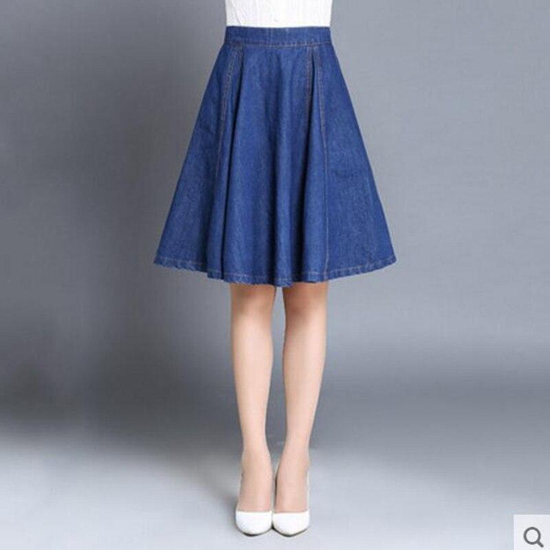 New Autumn Plus Size Denim Skirt Woman Fashion 2017 Korean Style A ...