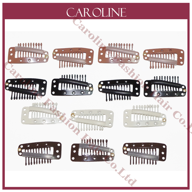 100pcs Hairpins 36mm Hair Extension Clips Black Color Snap Clips For