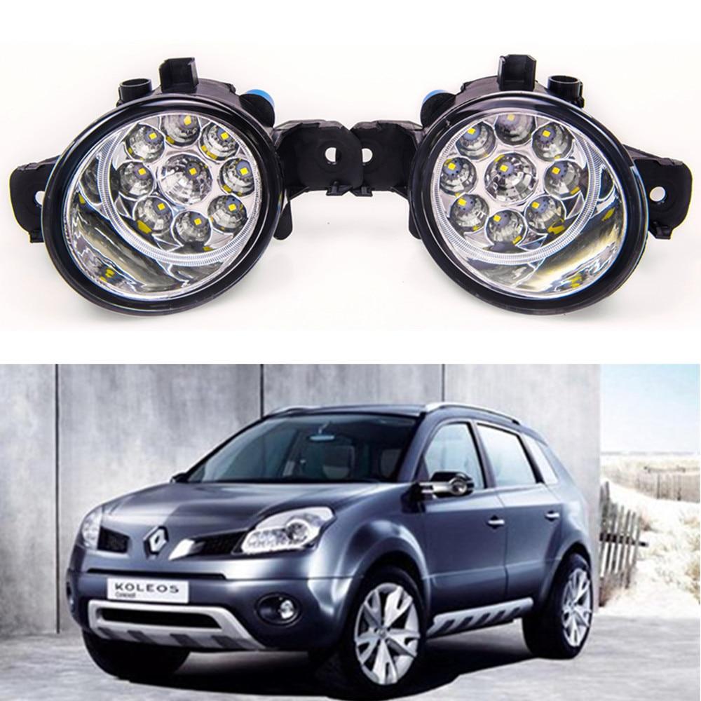 For RENAULT KOLEOS (HY_)  2008-2015 Car styling High brightness LED fog lights DRL lights 1SET for lexus rx gyl1 ggl15 agl10 450h awd 350 awd 2008 2013 car styling led fog lights high brightness fog lamps 1set