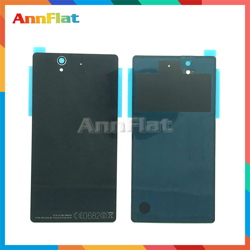 High Quality For <font><b>Sony</b></font> <font><b>Xperia</b></font> <font><b>Z</b></font> L36H L36 C6603 <font><b>C6602</b></font> Back Housing <font><b>Battery</b></font> Cover Door Rear Cover Replacement image