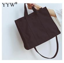 white Solid Corduroy Shoulder Bags Environmental Shopping Bag Tote Package Crossbody Purses Casual Handbag For Women