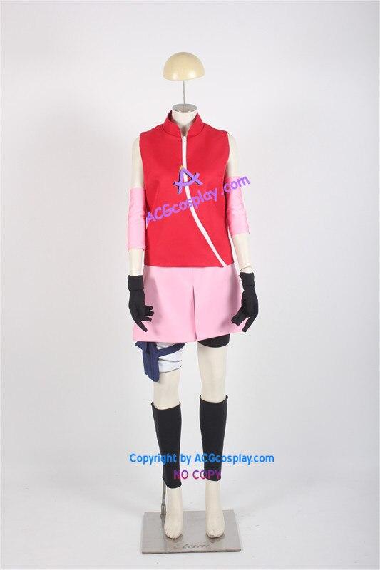 Naruto Team 7 (Team Kakashi) Sakura Haruno Cosplay Costume naruto sakura haruno cosplay boots shoes mp001015