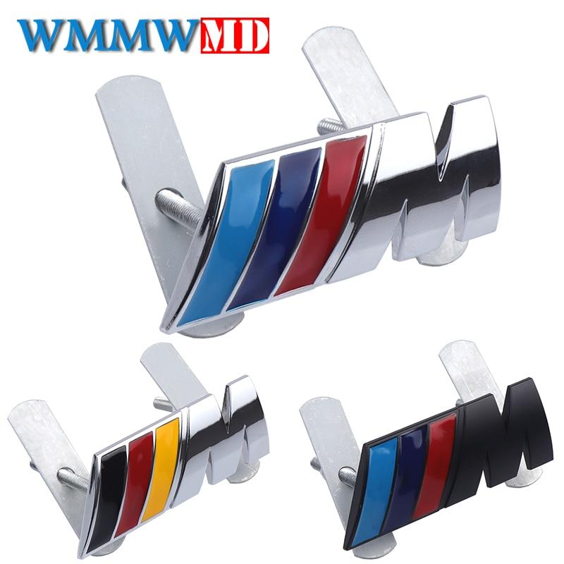 Metal Chrome Badge ///M M Power Car Front Grille emblem For BMW M M3 M5 E39 E34 E46 E90 E60 E36 E30 F30 F10 X1 X3 X5 Accessories leahter key holder car styling emblem wallets shell case for bmw m 1 3 5 7 series m3 m5 x1 x3 x5 e34 e36 e38 e39 e46 e30 e92 f30