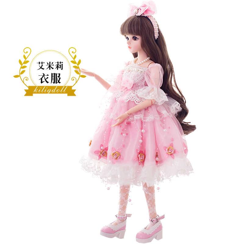 BJD 60 см игрушки куклы Одежда высшего качества китайские куклы 18 совместных БЖД шаровой шарнир куклы модная одежда для девочек подарок Эмили