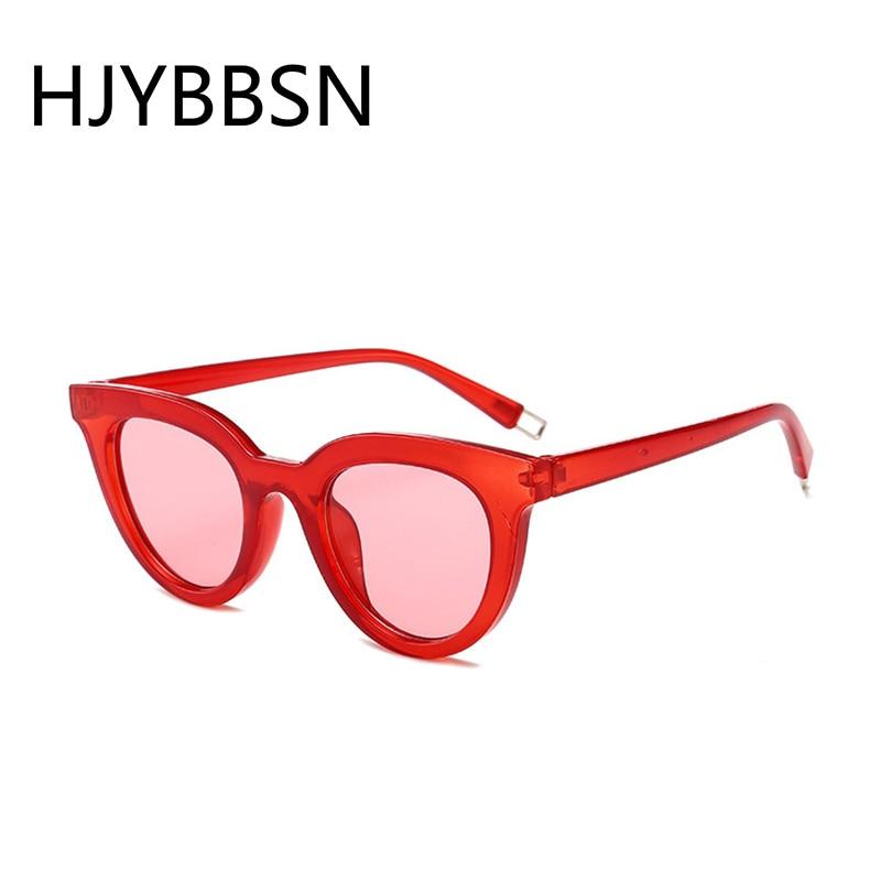 HJYBBSN Vintage Cat Eye Women Sunglasses Ladies Retro Red Sun Glasses Luxury Brand Designer Festival Eyeglasses Oculos