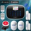 KERUI G19 TFT Большой Экран Gsm Беспроводной Домашней Безопасности Сигнализация с RFID Метки Интеллектуальное Управление Переключатель