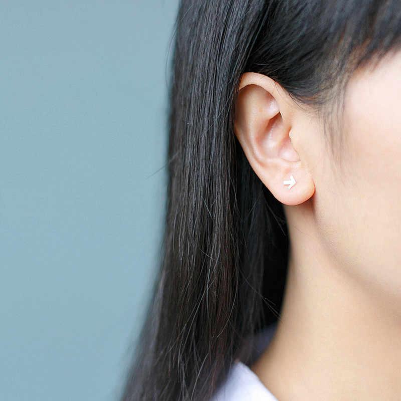 Inzatt Punk Nyata 925 Sterling Perak Arrow Stud Anting-Anting untuk Pria Fashion Anting-Anting Perhiasan Aksesoris Hadiah