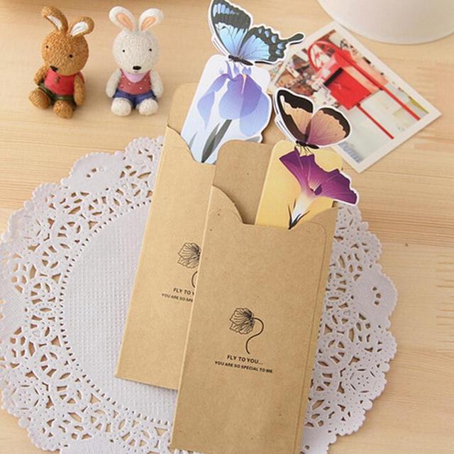 1 98 16 De Reduction 14 Pieces Realiste Mignon Kawaii Dessin Anime 3d Signet Signet Papillon Style Enseignant Cadeau Livre Marqueur Papeterie