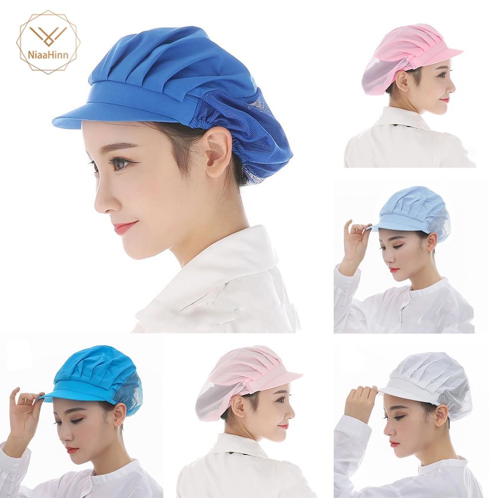 New Elastic Kitchen Hat Men Women Chef Hat Restaurants Accessories Dustproof Cooking Cap Breathable Hotel Cook Cap Work Uniform