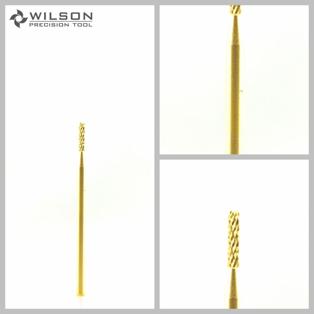 2pcs - Round Bit - Gold / Silver - WILSON Carbide Nail Drill Bits